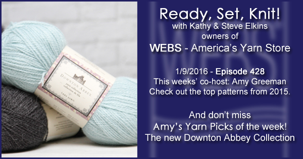 Ready, Set, Knit! episode #428 - Kathy talks with Amy Greeman. Listen now on the WEBS Blog - blog.yarn.com