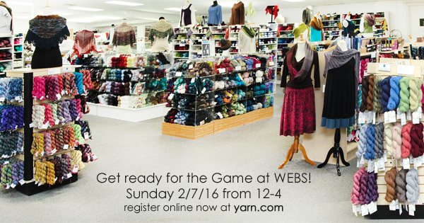 Our 10th Annual Pre-game Sunday Escape at WEBS. Read more on the WEBS Blog at blog.yarn.com