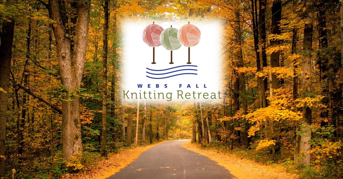 WEBS Fall Knitting Retreat Sept. 16-18, 2016. Registration open Feb. 8th. Read more on the WEBS Blog at blog.yarn.com