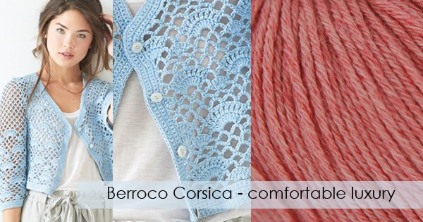 Berroco Corsica available now at yarn.com Read more on the WEBS Blog at blog.yarn.com