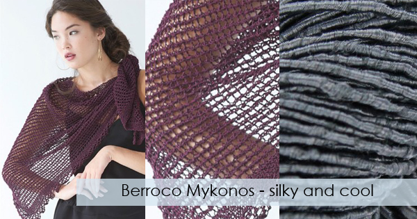 Berroco Mykonos available now at yarn.com Read more on the WEBS Blog at blog.yarn.com