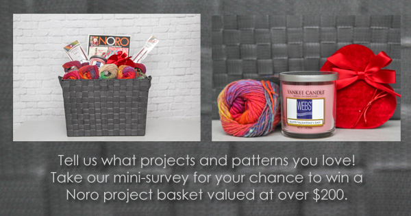 Take the WEBS mini-survey to be entered to win this project basket, now through 11:59pm EST Feb. 14, 2016. Read more, and find the link to the survey, on the WEBS Blog at blog.yarn.com