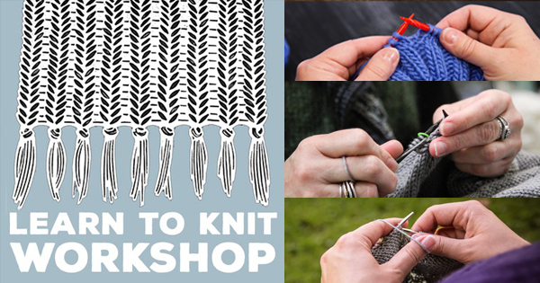 Two-night Learn to Knit workshops at WEBS, sign up today! Read more on the WEBS Blog at blog.yarn.com