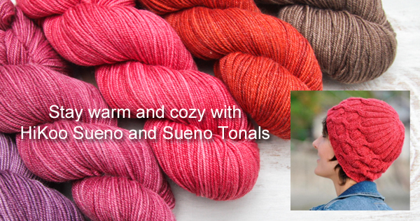 The newest yarns from Skacel, HiKoo Seuno and Sueno Tonals. Read more on the WEBS Blog at blog.yarn.com