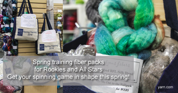 Spring Training Fiber Packs at WEBS. Read more on the WEBS Blog at blog.yarn.com