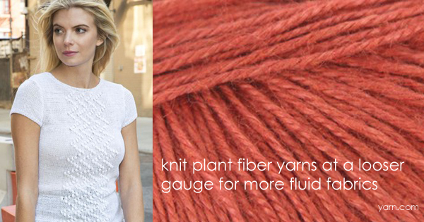 Amy learns to love plant fiber yarns! Read more on the WEBS Blog at blog.yarn.com
