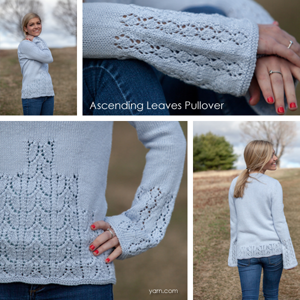 The Ascending Leaves Pullover from Valley Yarns. Learn more about the yarn and designer and where you can get a copy of the pattern  on the WEBS Blog at blog..yarn.com