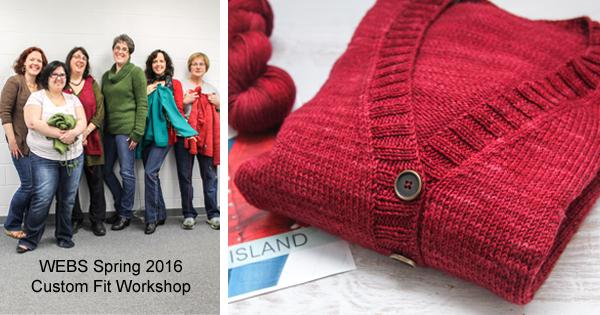 Custom Fit Workshops at WEBS - read more on the WEBS Blog at blog.yarn.com