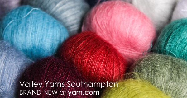 Southampton, the latest from Valley Yarns. Read more on the WEBS Blog at blog.yarn.com