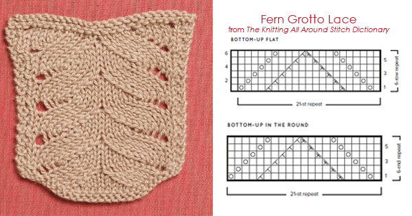 The Knitting All Around Stitch Dictionary Fern Lace Grotto Bottom-Up