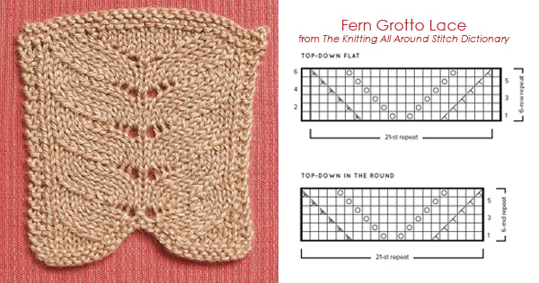 The Knitting All Around Stitch Dictionary Fern Grotto Lace Top-Down