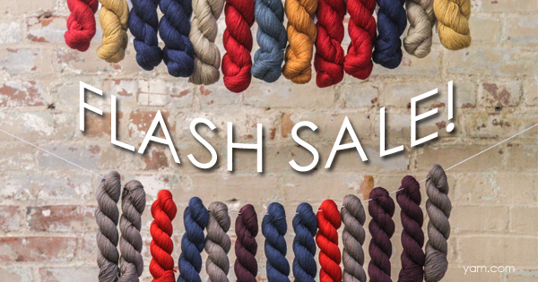 It's the May FLASH SALE at yarn.com Read more on the WEBS Blog at blog.yarn.com