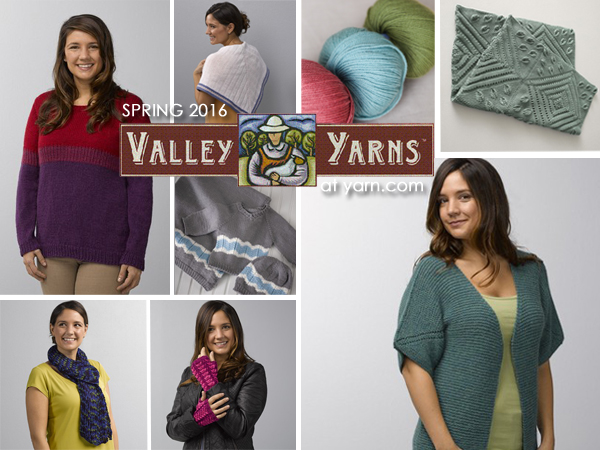 New Designs for Spring 2016 from Valley Yarns - details on the WEBS Blog at blog.yarn.com