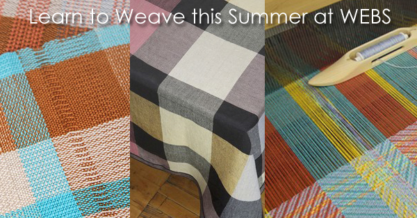 Weaving classes for beginners and advanced techniques this summer. Read more on the WEBS Blog at blog.yarn.com
