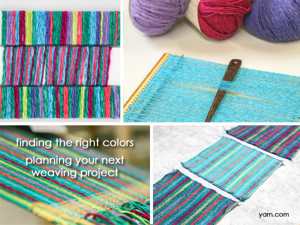 Planning your next weaving project - choosing colors on the WEBS Blog at blog.yarn.com
