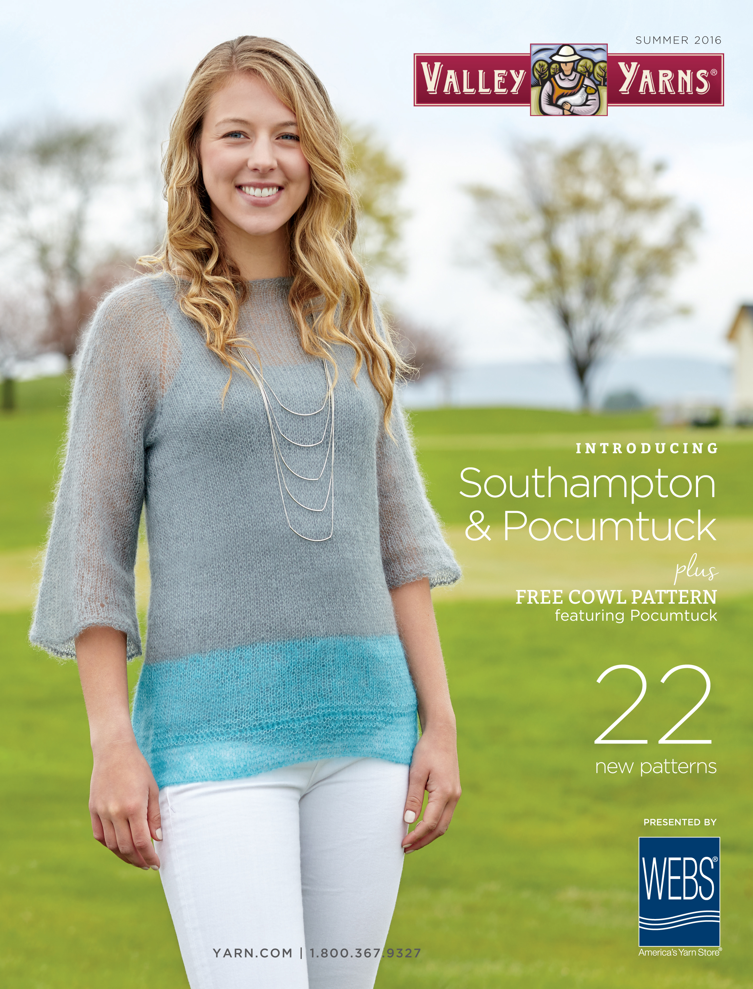 Valley Yarns Summer 2016 Catalog - available to view online now! Read more on the WEBS Blog at blog.yarn.com