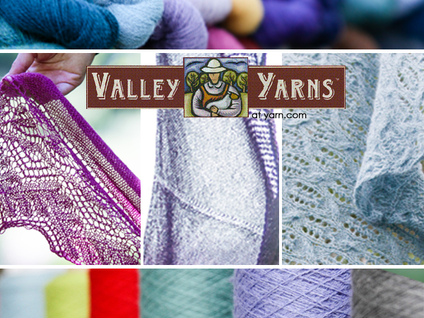 Fresh New Designs from Valley Yarns in July - details on the WEBS Blog at blog.yarn.com