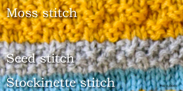 Stitch pattern options in the Choose Your Own Adventure Hat KAL on the WEBS Blog at blog.yarn.com