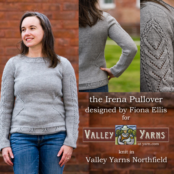 The Irena Pullover from Valley Yarns. Learn more on the WEBS Blog at blog.yarn.com