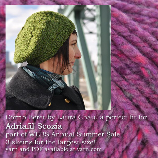 Great Yarns in the WEBS Annual Summer Sale July 28 - Aug 31, 2016. Read more on the WEBS Blog at blog.yarn.com