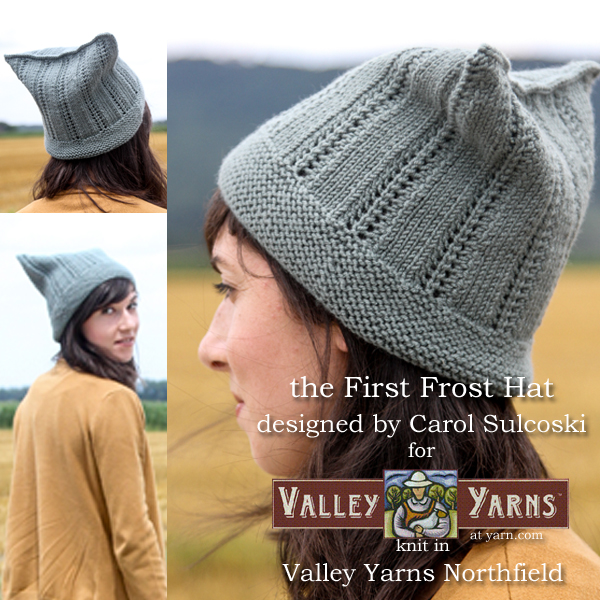 The First Frost Hat from Valley Yarns. Learn more on the WEBS Blog at blog.yarn.com