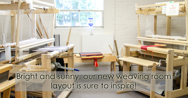 Read all about the new weaving room on the WEBS Blog at blog.yarn.com