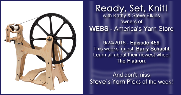 Ready, Set, Knit! episode #459 - Kathy talks with Barry Schacht. Listen now on the WEBS Blog - blog.yarn.com