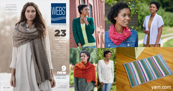 WEBS Fall 2016 catalogs are mailing out now! Learn how you can get a copy on the WEBS Blog at blog.yarn.com