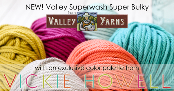 NEW! Valley Superwash Super Bulky in exclusive Vickie Howell colors, read more on the WEBS Blog at blog.yarn.com