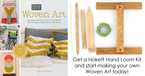 Rachel Denbow's  Woven Art and the Hokett Hand Loom make a great gift! Read more on the WEBS Blog at blog.yarn.com
