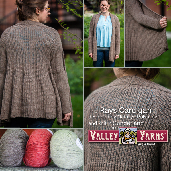 Get your copy of the Rays Cardigan PDF and Valley Yarns Sunderland at yarn.com Read more on the WEBS blog at blog.yarn.com