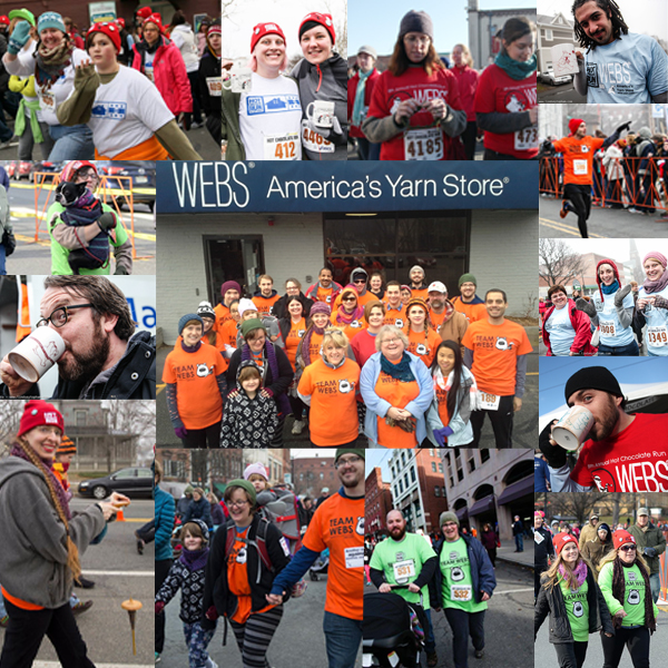 Team WEBS memories from the Hot Chocolate Run over the last 5 years. Read more on the WEBS Blog at blog.yarn.com