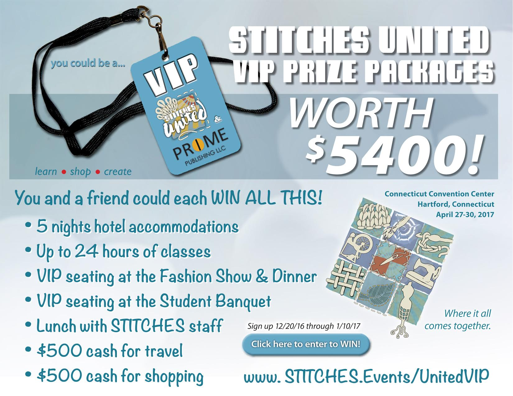 STITCHES United VIP Experience Giveaway
