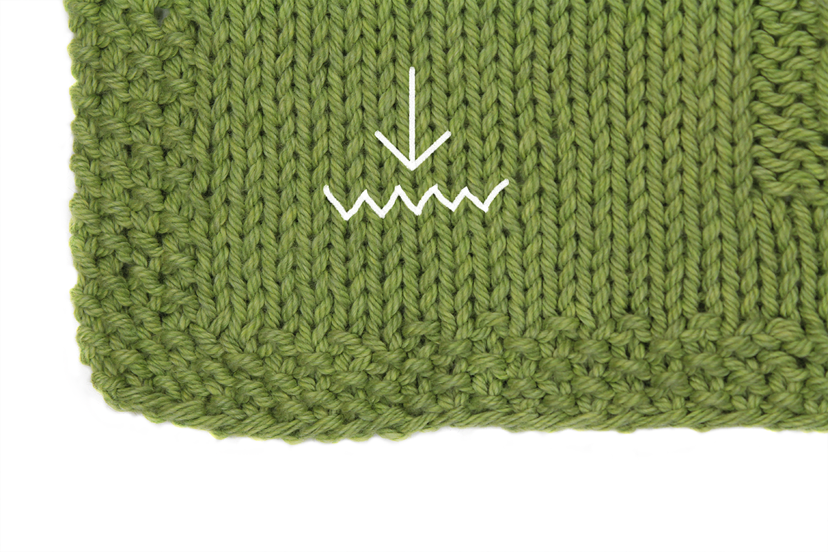 Knitting Gauge Swatch Stitch Gauge Example Illustration